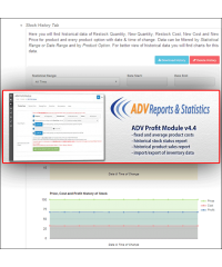 ADV Profit Module (product costs, profit, margin, markup)