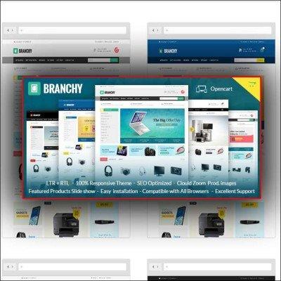 Скачать Branchy-Opencart Responsive Theme на сайте rus-opencart.info