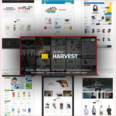 Скачать Harvest-Responsive Multipurpose OpenCart Theme на сайте rus-opencart.info