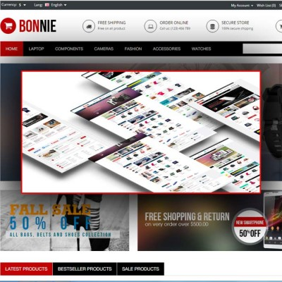 Скачать Bonnie-Multipurpose Responsive OpenCart Theme на сайте rus-opencart.info