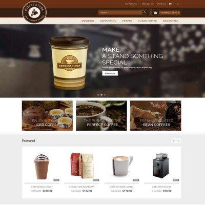 Скачать Coffee-Opencart Responsive Theme на сайте rus-opencart.info