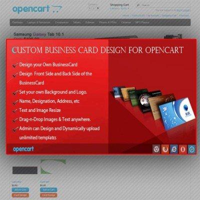 Скачать Custom Business Card Design for OpenCart на сайте rus-opencart.info