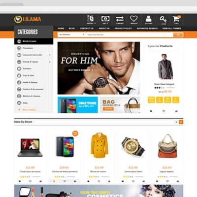Скачать Lilama-Mega Shop Responsive OpenCart Theme на сайте rus-opencart.info