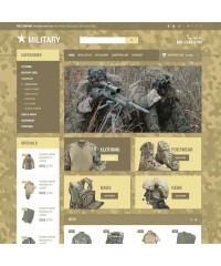 Military store theme OpenCart