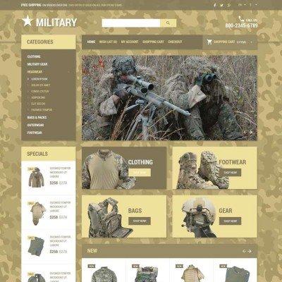 Скачать Military store theme OpenCart на сайте rus-opencart.info
