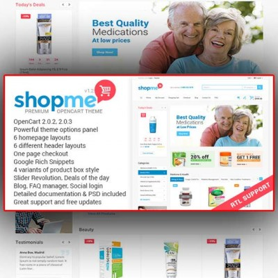 Скачать ShopMe–Multipurpose Opencart Theme на сайте rus-opencart.info