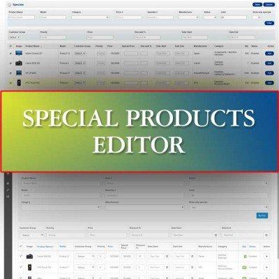 Скачать Special Products Editor на сайте rus-opencart.info