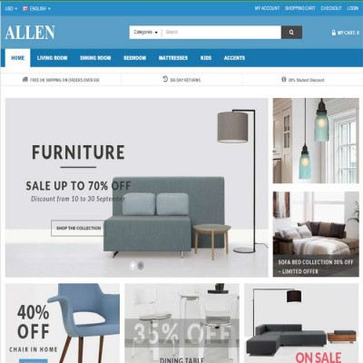 Скачать Allen Multipurpose Opencart Theme на сайте rus-opencart.info