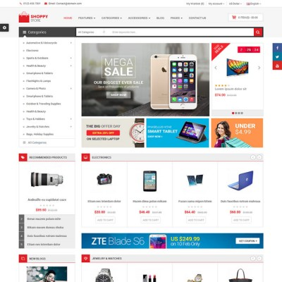 Скачать ShoppyStore-Responsive Multipurpose OpenCart Theme на сайте rus-opencart.info