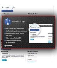 Модуль авторизации покупателей через Facebook