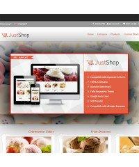 JustShop-Cake Bakery OpenCart Theme