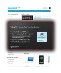 OCWP-Integrate WordPress within OpenCart