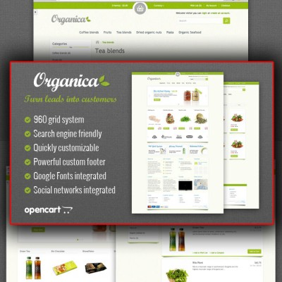Скачать Organica Premium OpenCart Template на сайте rus-opencart.info