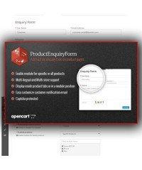 Product Enquiry Form  | Форма обратной связи в карточке товара