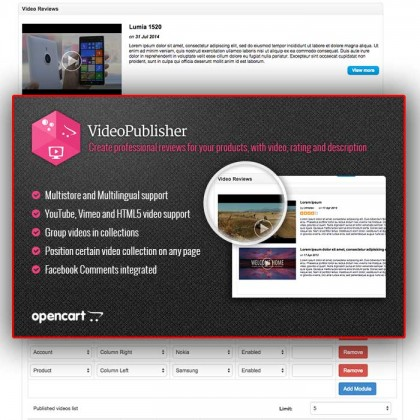 Скачать VideoPublisher - Multipurpose Video News / Reviews publisher на сайте rus-opencart.info