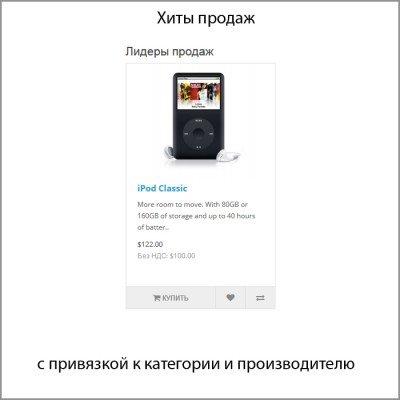 Скачать Хиты продаж с привязкой к категории и производителю на сайте rus-opencart.info