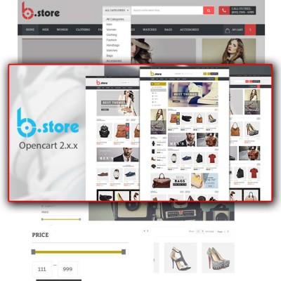 Скачать BStore - Responsive OpenCart Theme на сайте rus-opencart.info