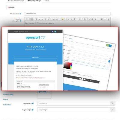 Скачать HTML Email письма 2.x на сайте rus-opencart.info