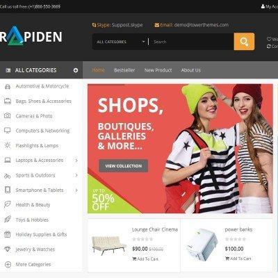 Скачать Rapiden-Mega Shop Responsive Opencart Theme на сайте rus-opencart.info