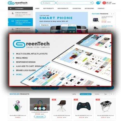 Скачать GreenTech-Shopping Responsive Opencart Theme на сайте rus-opencart.info