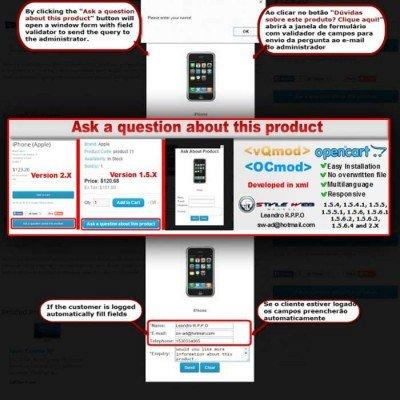 Скачать Ask a question about this product на сайте rus-opencart.info