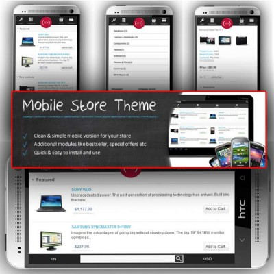 Скачать Mobile Store Theme на сайте rus-opencart.info