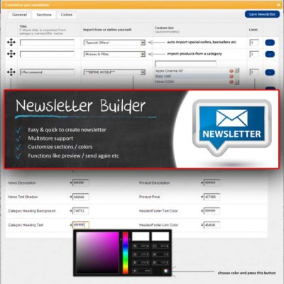 Скачать Newsletter Builder на сайте rus-opencart.info