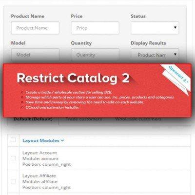 Скачать Restrict Catalog By Customer Group 2 на сайте rus-opencart.info
