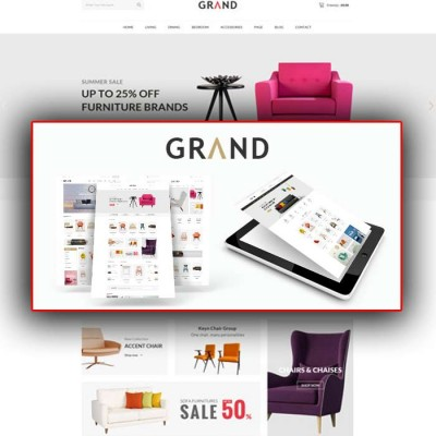 Скачать Grand-Responsive Furniture Opencart Theme на сайте rus-opencart.info