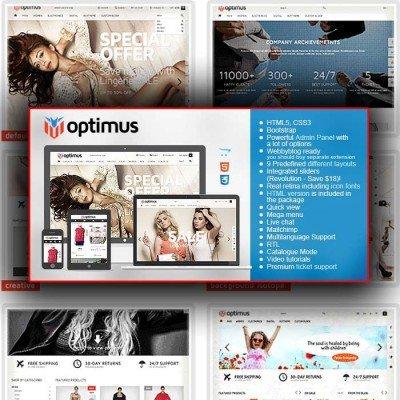 Скачать Optimus-Flexible Responsive OpenCart Theme на сайте rus-opencart.info