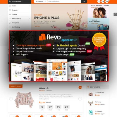 Скачать Revo-Drag & Drop Multipurpose OpenCart Theme на сайте rus-opencart.info
