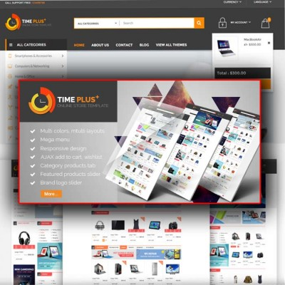 Скачать TimePlus-Mega Store Responsive Opencart Theme на сайте rus-opencart.info