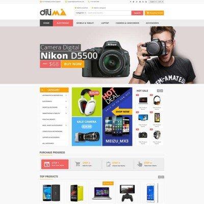 Скачать Dilima-Mega Store Responsive OpenCart Theme на сайте rus-opencart.info