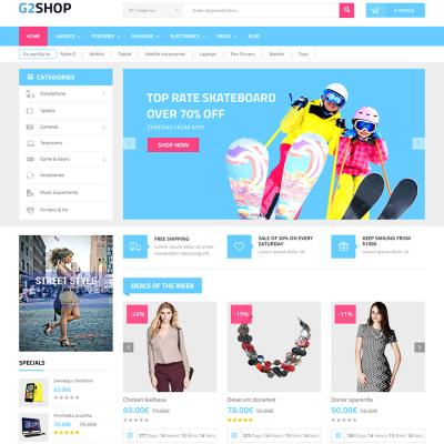 Скачать G2shop-Digital eCommerce OpenCart Theme на сайте rus-opencart.info