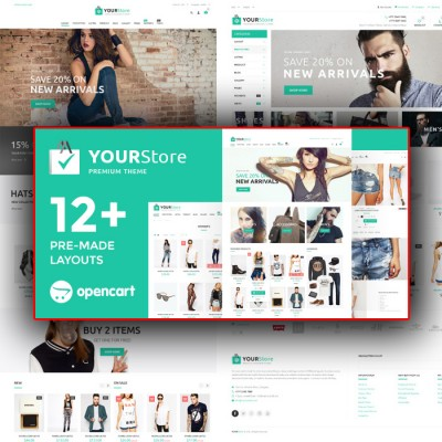 Скачать YourStore-OpenCart theme на сайте rus-opencart.info