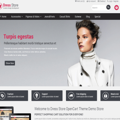 Скачать Pav Dress Store Responsive Opencart Theme на сайте rus-opencart.info