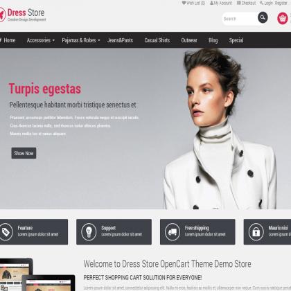 Скачать Pav Dress Store Responsive Opencart Theme на сайте rus-opencart.info