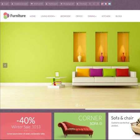 Скачать Pav Furniture Responsive Opencart Theme на сайте rus-opencart.info