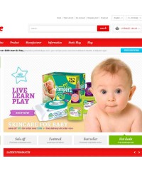 Responsive OpenCart Theme - Baby Store