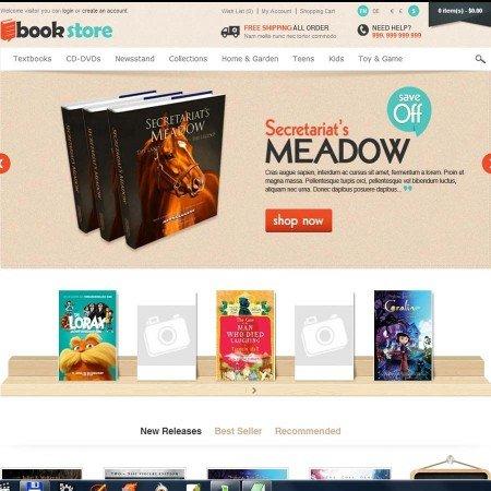 Скачать Book Store Responsive OpenCart Theme на сайте rus-opencart.info