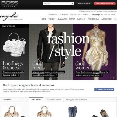Скачать Fashion Theme на сайте rus-opencart.info