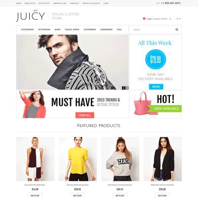 Скачать Responsive Casual Clothes Store OpenCart Template на сайте rus-opencart.info
