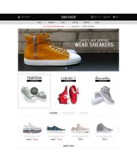 Opencart Fashion Shoes Store-Sneaker