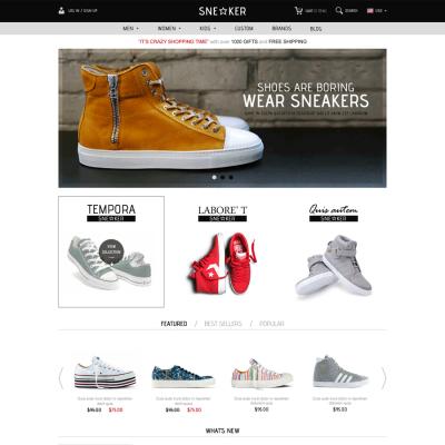 Скачать Opencart Fashion Shoes Store-Sneaker на сайте rus-opencart.info