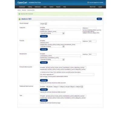 Скачать deadcow SEO на сайте rus-opencart.info