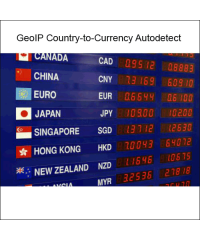 GeoIP Country to Currency Autodetect