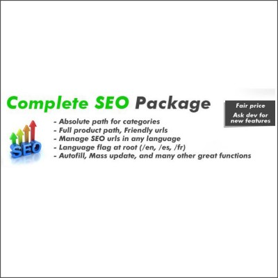 Скачать Complete SEO Package - Full featured SEO with Friendly urls на сайте rus-opencart.info