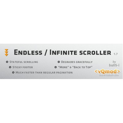 Скачать Product Endless Scroller / Infinite Scrolling на сайте rus-opencart.info