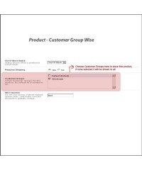 Product - Customer Group Wise | Доступ к товарам