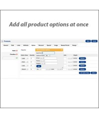 Add all product options at once VQMOD
